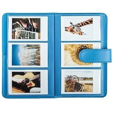 Fujifilm instax Laporta mini Film Uyumlu Mavi 108'li Dikdörtgen Albüm Renkli